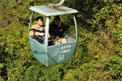 Chinese Ropeway Over the Rain Forest Royalty Free Stock Image
