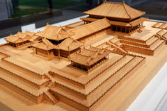 Chinese royal palace building model Royalty Free Stock Images