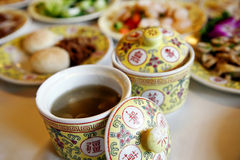 Chinese royal tableware Royalty Free Stock Photography