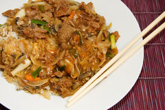 Chinese rundvlees en oestersaus Stock Afbeelding