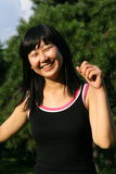 chinese running women 免版税图库摄影