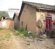 Chinese rural house building made of earth Royalty Free Stock Image