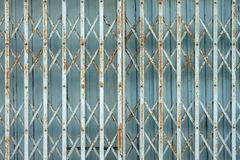 Chinese rusty traditional gate or folding doors Stock Photo