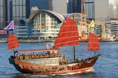 Chinese sailing ship Stock Image