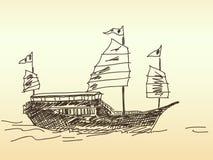 Chinese sailing ship Royalty Free Stock Image