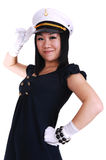 Chinese sailor girl. Royalty Free Stock Photo