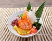 Chinese  salad. Salmon with vegetables Stock Image