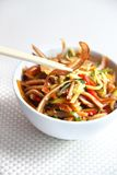 Chinese salad with pig ears and vegetables Royalty Free Stock Photo