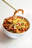 Chinese salad with spicy pig ears and vegetables Royalty Free Stock Images