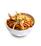 Chinese salad with spicy pig ears and vegetables Royalty Free Stock Image