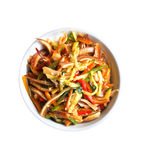 Chinese salad with spicy pig ears and vegetables Stock Photo