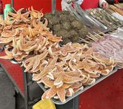 Chinese sales stall detail Stock Photo