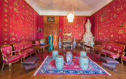 Chinese saloon in palace Saint Anton. Royalty Free Stock Photography