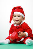 Chinese Santa Boy Royalty Free Stock Image