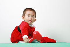 Chinese santa boy Stock Photo