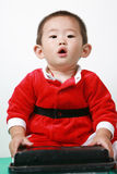 Chinese Santa Boy Stock Photography