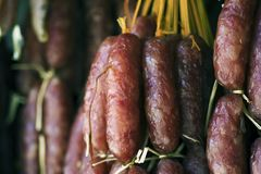 Chinese Sausage Royalty Free Stock Images