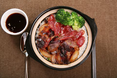Chinese sausage meal Royalty Free Stock Photos