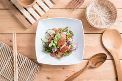 Chinese sausage salad with lime, cucumber and shallot Royalty Free Stock Photography