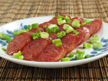 Chinese Sausage Slices Stock Images