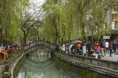 Chinese Scenery In City With Nature Dujiangyan Stock Photography