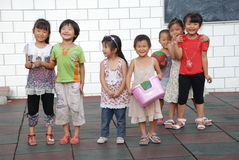 Chinese school children. Smiling young Chinese children in the school, in Sichuan,China royalty free stock image