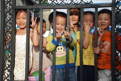 Chinese school children stock images