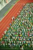 Chinese school children exercising Stock Image