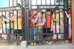 Chinese schoolkinderen Stock Afbeelding