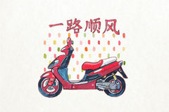 Chinese scooter royalty free stock photography