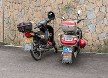 Chinese scooters Stock Photography