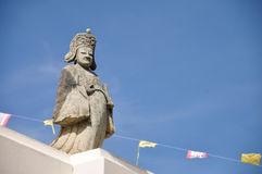 Chinese sculpture. Old Chinese statue in Thailand stock photo