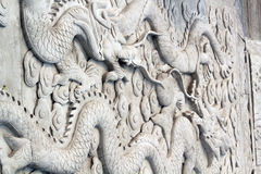 Chinese sculpture of Dragons Stock Photos