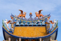 Chinese sculpture on roof Stock Photography