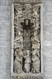 Chinese sculpture. Chinese stone carving in Fosan park Stock Image