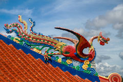 Chinese sea bird sculpture on Royalty Free Stock Photos