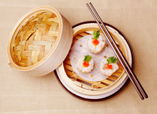 Chinese seafood dumplings Royalty Free Stock Photo