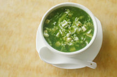 Chinese seafood vegetable soup. Picture of Chinese seafood vegetable soup Stock Photo