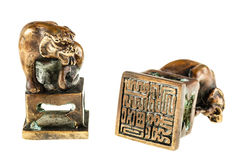 Chinese seal stamp Stock Photography
