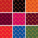 Chinese seamless bamboo patterns Royalty Free Stock Image