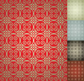 Chinese Seamless Damask wallpaper background Stock Photography