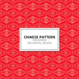 Chinese seamless pattern. Bright vector background with red ornament. Decoration with traditional China style. Endless texture for wallpaper, pattern fills stock illustration
