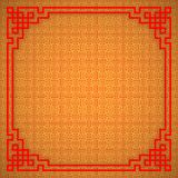 Chinese seamless pattern with frame and shadow. Red and golden chinese traditional ornament background. Vector illustration.  vector illustration