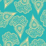 Chinese seamless pattern with paisley. Stock Photo