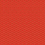 Chinese seamless pattern. Red and golden chinese clouds traditional ornament background. Vector illustration.  stock illustration