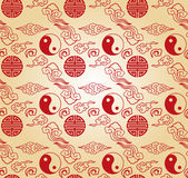 Chinese seamless wallpaper Royalty Free Stock Photography