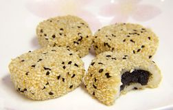 Chinese sesame glutinous rice cakes Royalty Free Stock Photos