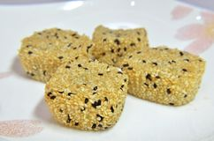 Chinese sesame glutinous rice cakes Royalty Free Stock Photo