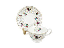 Chinese set of tea cups on white background Royalty Free Stock Photos