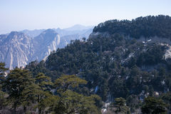 Chinese Shaanxi province tourist attractions in Huashan mountain Stock Photos
